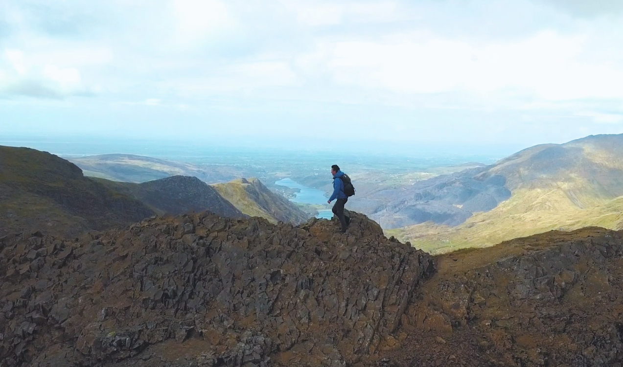 Hiking in the mountains of Snowdonia   Land Rover Explore