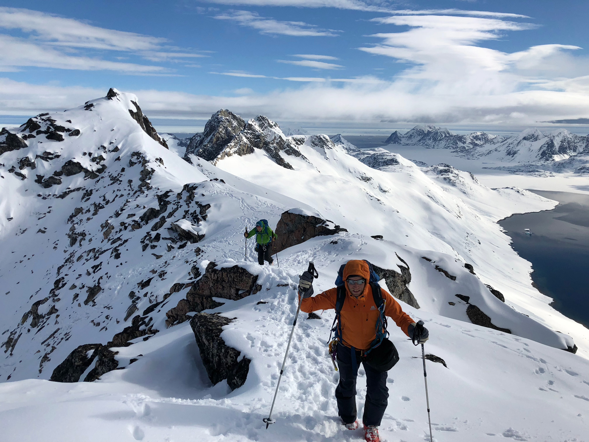 The team of six made the probable first ascents of 12 mountains. ©Andrew Denton